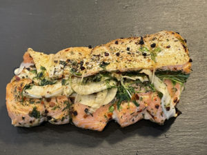 Lachs-Roulade